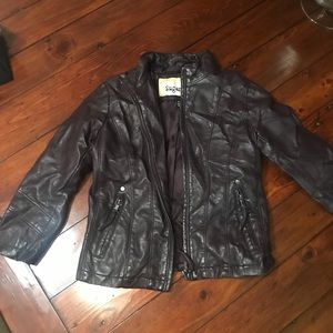 Girls size small (4) leather jacket